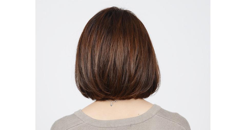 ツヤ髪ワンレンボブ