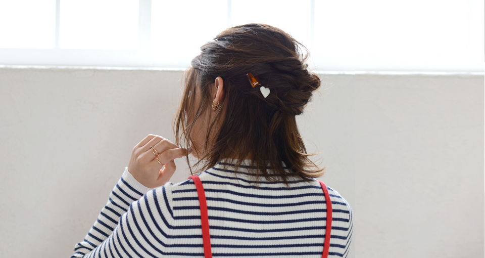<3分アレンジ>オトナかわいい♪ハーフアップスタイル